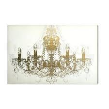 gold foil chandelier diamond graphic art on canvas free fringe gold foil chandelier