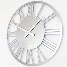 silver wall clock uk