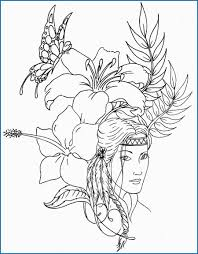 Girl Indian Coloring Pages Good Native American Designs Coloring