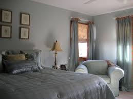 Elegant Grey Curtains Bedroom In Modern Home : Fabulous Grey Curtains  Bedroom Blue Wall White Ceiling