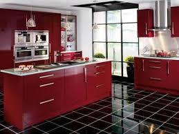 modern kitchen floor tile. Modern Kitchen With Black Tiles Floor Tile