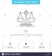 Justice Stock Chart Balance Decision Justice Law Scale Business Flow Chart