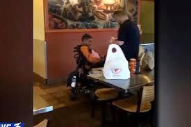 Qdoba Customer Service Qdoba Employee Feeds Disabled Customer In Sweet Scene