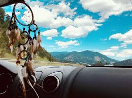 Dream Catcher For Car Mirror Beauteous Dream Catcher Hanging From Rearview Mirror Perfect For When I Fall