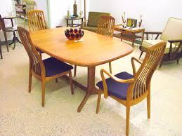 brilliant mid century modern dyrlund danish teak dining set manchester nh teak dining room chairs prepare