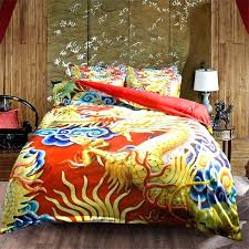 unique traditional dragon bedding set twin queen king size duvet cover red fitted sheets or flat sheet sets for affiliate bed canada