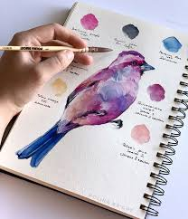 Purple finch by Polina Bright - #Artdrawings #Artsketches #bright ...