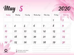 Calendar May 2020 May 2020 Year Template Calendar 2020 Desk Calendar Design