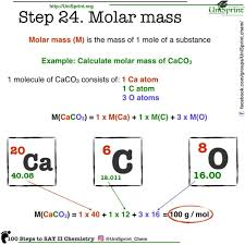 Step 24 Molar Mass 100 Steps To Sat Chemistry From