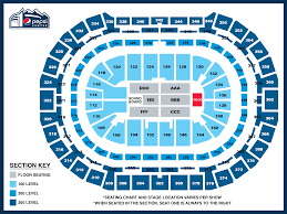 Verizon Center Interactive Seating Chart Concert Seating Charts Pepsi Center