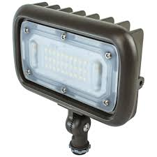 newhouse lighting 30 watt bronze outdoor integrated led landscape weatherproof wall wash flood light