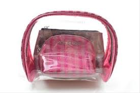 victoria s secret victoria s secret 3 pc sparkle glitter cosmetic makeup bag set 12345678910