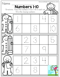 Missing Number Worksheets 1 20 Count To Worksheet 1 Learning Numbers ...