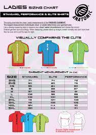 Cycling Jersey Size Chart Sizing Charts Custom Sportswear