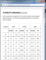 Asos Clothing Size Chart 68 Curious Size Guide Asos