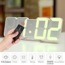 digital time alarm clock led wall clock with 115 colors remote control digital watch night light magic desktop table clock wall clocks