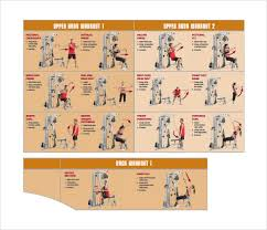 Sample Workout Chart 7 Documents In Pdf