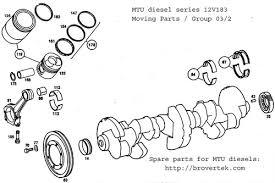 mtu diesel engine spare parts detroit diesel engine spare parts mtu diesel engine 12v183 moving parts