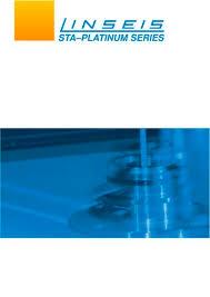 Sta Pt1000 Tg Dsc Linseis Thermal Analysis Pdf Catalogs