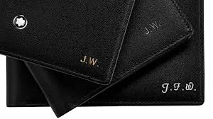 with initials of up to 4 letters embossed in gold silver or blind on the leather each piece bears a memorable marking