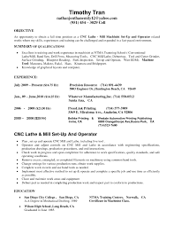 Cnc Machinist Resumes Free Resume Templates