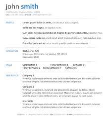 Resume Templates Examples Free Sarahepps Com