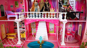 My New Barbie Dollhouse! Cute Toy Fairy Tale Castle Review and Tour -  Kid-friendly Family Fun - YouTube