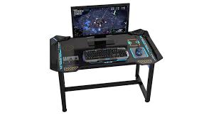 e blue usa wireless glowing led pc gaming desk table