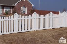 Scalloped vinyl picket fence Gate Underscalloped Vinyl Picket Fence Windsor Ontario Vinyl Fence Canada Underscalloped Vinyl Picket Fence Windsor Ontario Direct Fencing