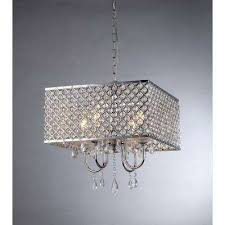 zarah 4 light chrome crystal chandelier with shade