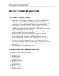 Server Resume Objective Construction Job Description For Resume Best Of Banquet Server 96