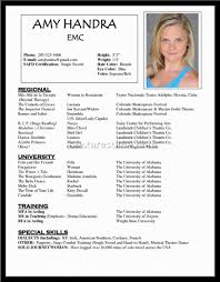 Resume Actor Resume Examples