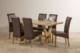 Crossley Solid Oak Dining Set 6ft Table With 6 Chairs
