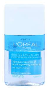 l oréal paris gentle eye and lip makeup remover for sensitive skin