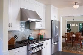 kitchenaid hood. heath ceramics backsplash kitchen transitional with country chic wooden hanging pot racks kitchenaid hood