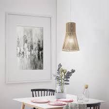 Pendellampe Aus Farbiger Kordel String Lamp