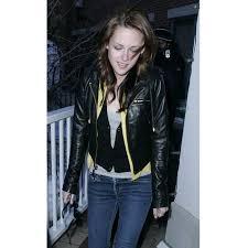 kristen stewart twilight saga breaking dawn 2 black jacket leather jacket for women s
