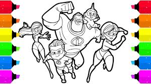 You can now watch the new movie in theaters everywhere! Incredibles 2 Coloring Pages For Kids Youtube
