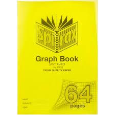 Spirax P133 Graph Book 5mm Grid 64 Page A4 Yellow Paper Plus
