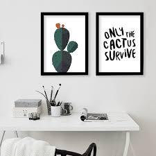 fashionable ideas cactus wall art home wallpaper desert print decorative painting decoration canvas modern southwest