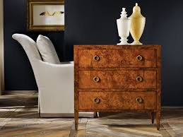 Three Drawer Chest on Legs Burl Chests