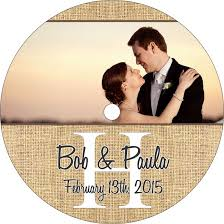 Wedding Cd Labels Burlap Monogram Wedding Cd Labels Labelsrus