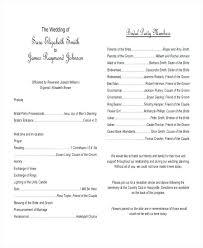 Wedding Programs Template Free Wedding Program Templates Free Sample Example Format Free