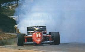 Alboreto and his blown up engine, Kyalami 1985 : formula1