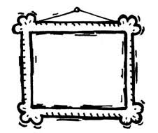 picture frames on wall clipart