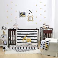 safari 4 piece baby crib bedding set by the peanut shell baby
