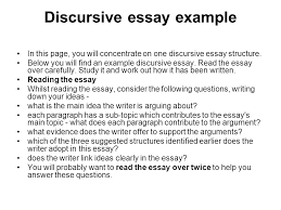 planning a discursive essay structures and content ppt discursive essay example in this page you will concentrate on one discursive essay structure
