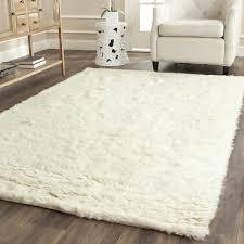 safavieh handmade flokati ivory wool rug 5 x 8 cream area rug 5 8