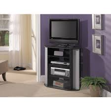 bush visions black tall corner tv stand for tvs up to