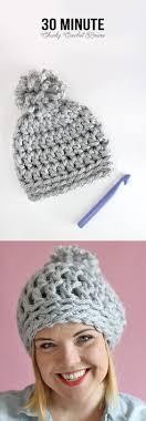 2 30 minute easy chunky crochet beanie warm diy
